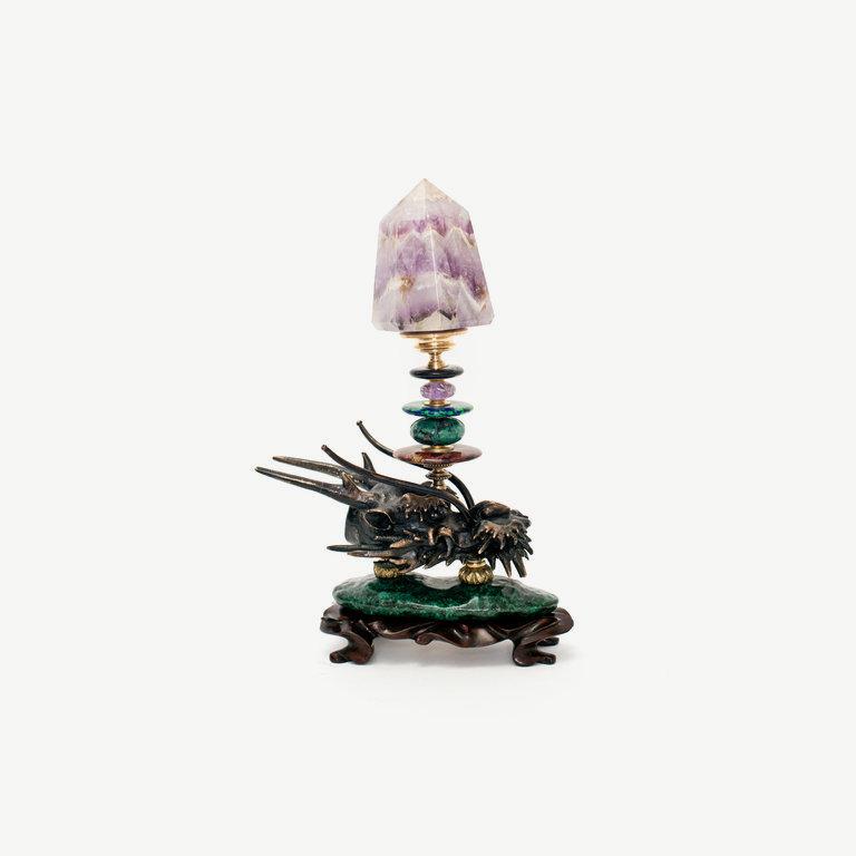 Dragonhead, amethyst obelisk - 24cm