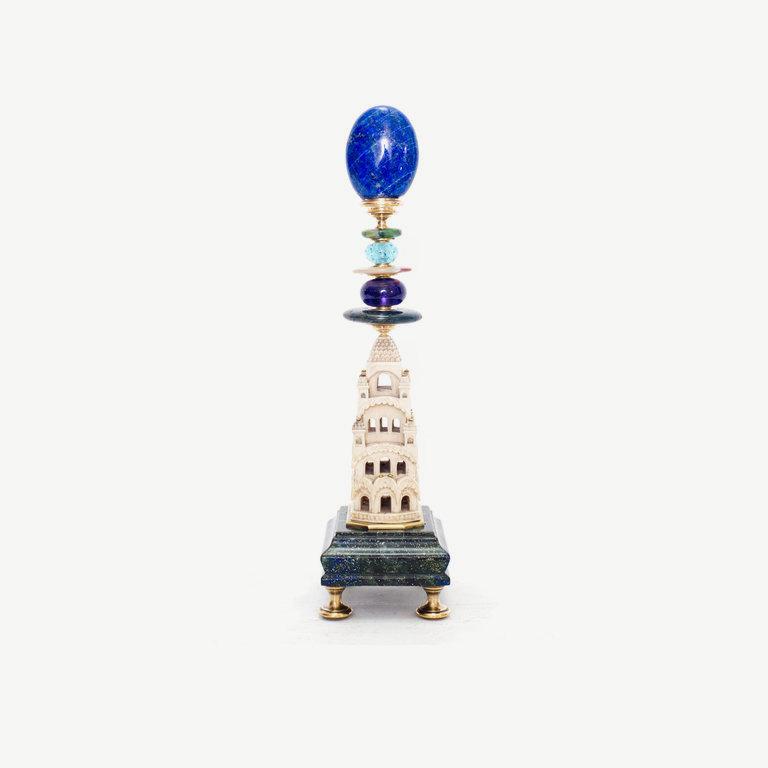 White tower, lapislazulitop - 27cm